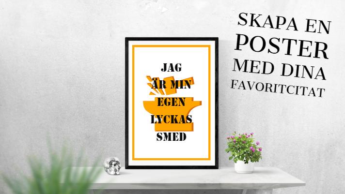 produktbild-min-egen-lyckas-smed.orange städ och svart ram