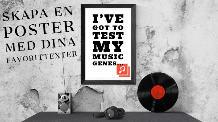 custom poster, test my music genes
