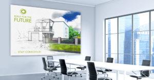 Canvas Tavla Inredningsdetalj, budskapstavla, Färgklick, minnesvägg för foton och bilder som du själv laddar upp. Inramad och färdig att hänga upp på vägg. ExponeraMedia kan även hjälpa dig med bildredigering, design och filkontroll