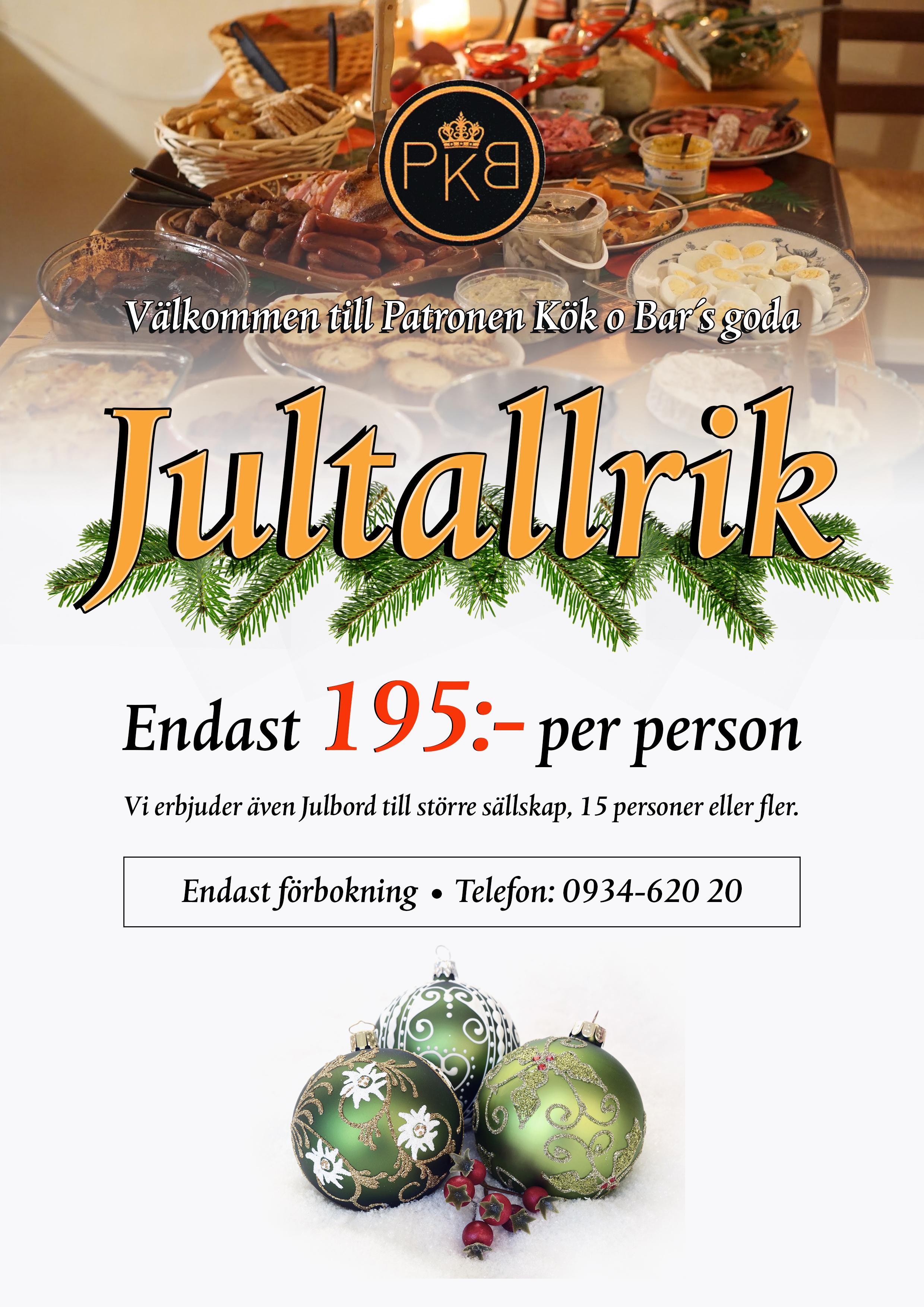 Jultallrik Robertsfors 2018 PATRONEN Kök och Bar Produktion@ExponeraMedia