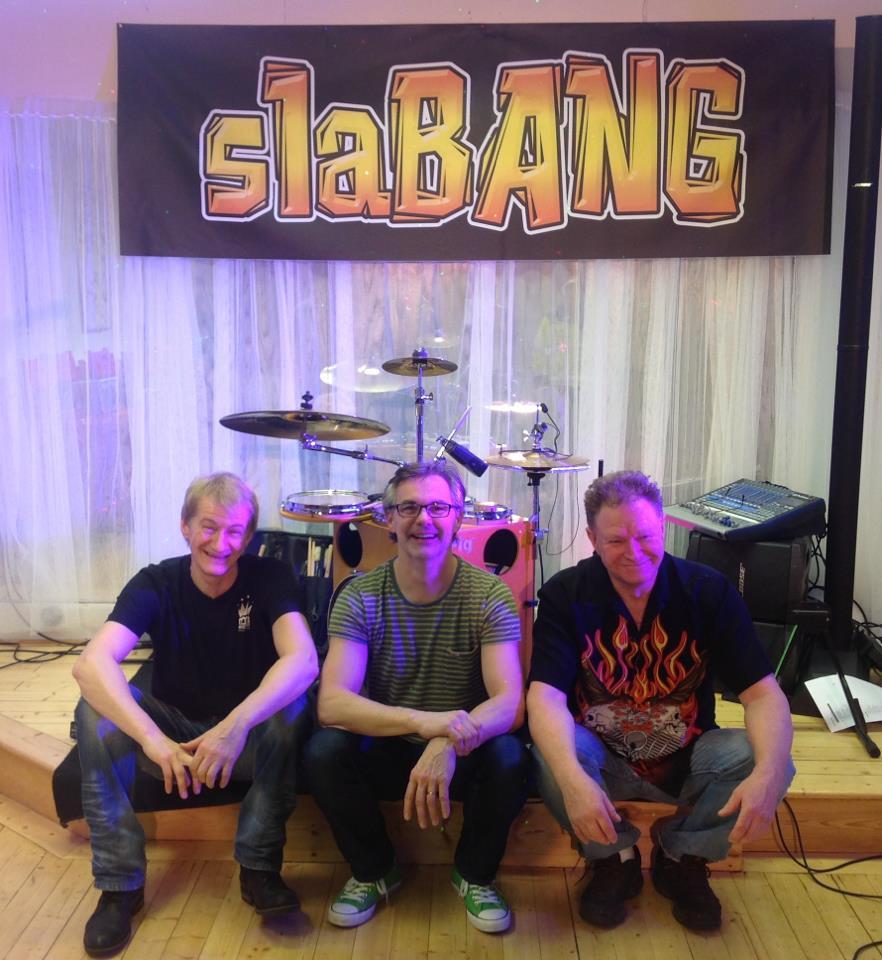 """SlaBANG består av Bore """"Kung Bore"""" Karlsson, Åke Swahn och Per Sjöstedt. Tre rutinerade. fantastiska musiker som gästat Royal i Ånäset"""