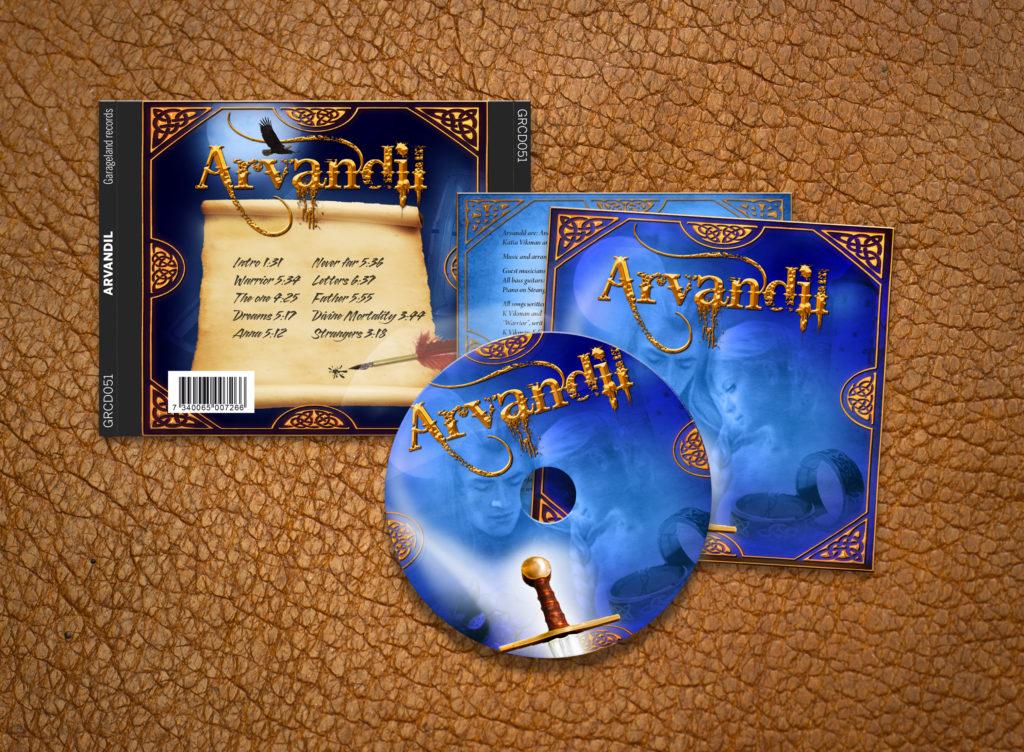 CD cover. Omslag, Hela processen från ide till färdig produkt, Layout, design, illustration, korrektur och produktion.