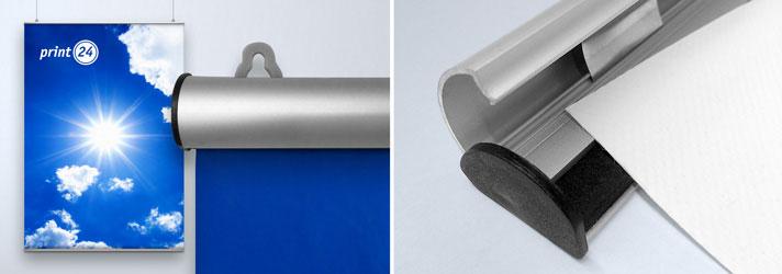 Kkämskena i aluminium. för posters, vepor och tyger. Smart, snygg och återanvändningsbar