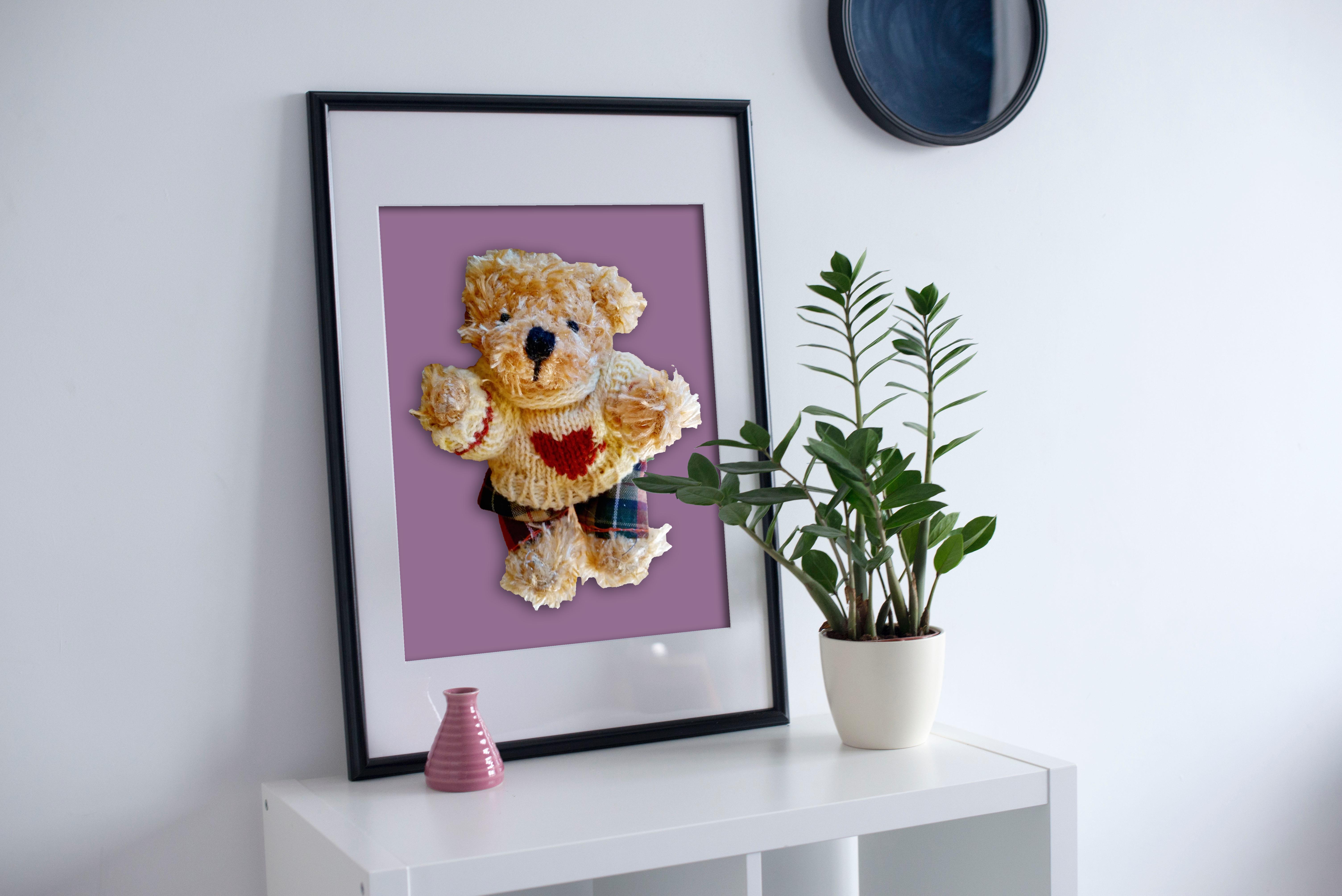 söt Nallebjörn. skapa en poster med dina egna budskap, egna foton. Styla din inredning med unik design.