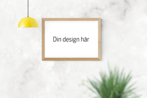 custom poster din design här